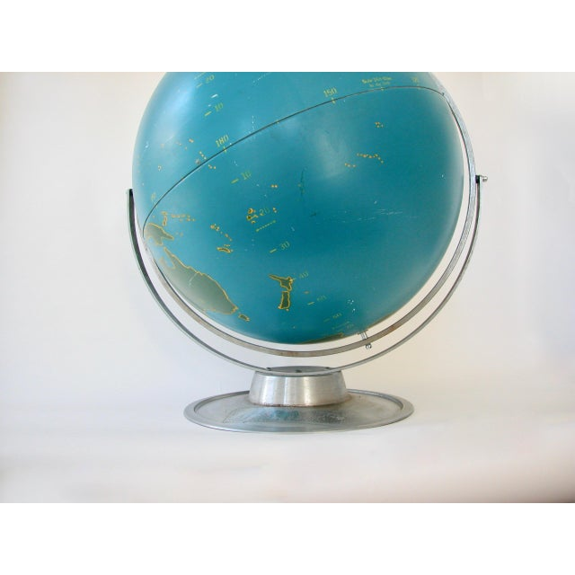 1940s Vintage Nystrom Aviation Globe For Sale - Image 5 of 11