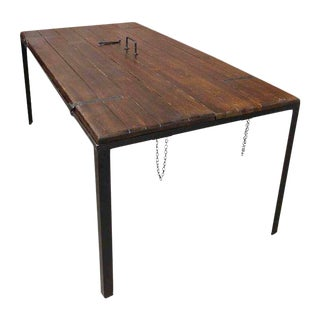 Repurposed Door Panel Dining Table For Sale