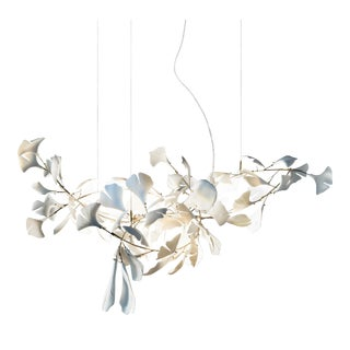 Andreea Braescu Ginkgo 78 Porcelain Light Sculpture For Sale