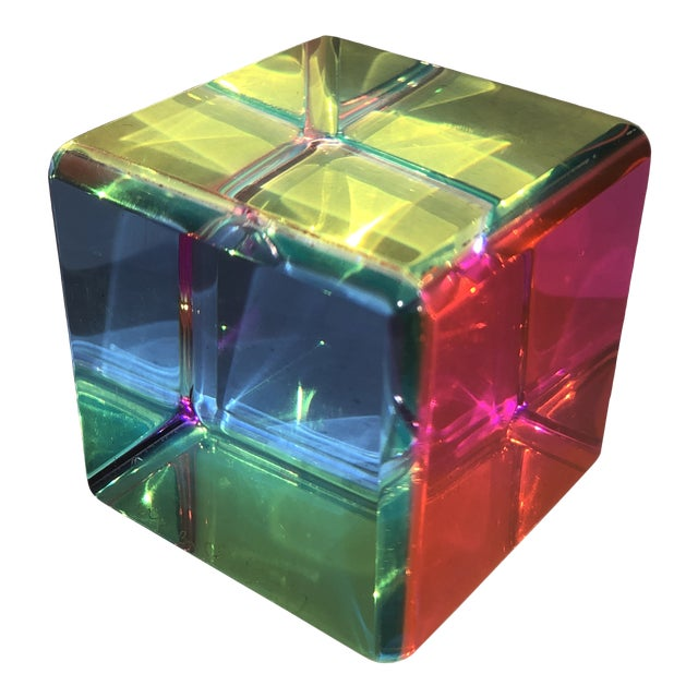 Acrylic Prism Cube by Vasa For Sale
