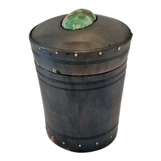 18c Scottish Horn and Polished Stone Tea Caddy For Sale