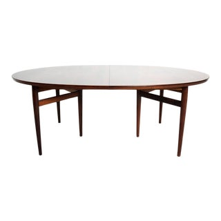 Mid Century Danish Modern Rosewood Oval Dining Table by Arne Vodder for Sibast For Sale