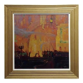 Dana Bartlett - the Crusaders in Venice -Oil Painting C1930s For Sale
