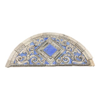Art Deco Blue Stone Transom For Sale