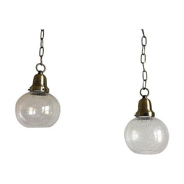 Blown Glass Swedish Glass Pendant Lights - a Pair For Sale - Image 7 of 7