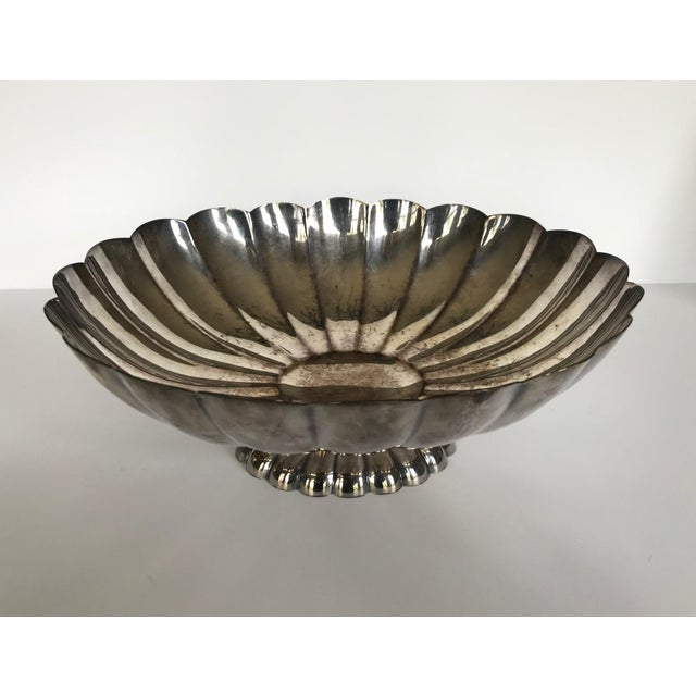 Mid 20th Century Reed & Barton Silver Scalloped Bowl For Sale - Image 9 of 9