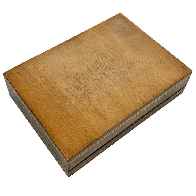 Wood 19th Century French Inlay Wooden Box For Sale - Image 7 of 13