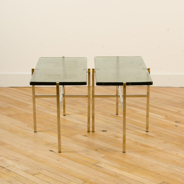 Mid-Century Modern Italian Mid-Century Smoky Glass Top End Tables - a Pair For Sale - Image 3 of 13