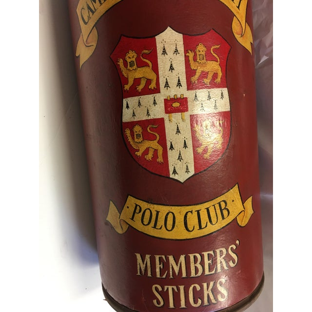 Cambridge University Polo Club Members Sticks Can - Image 3 of 7