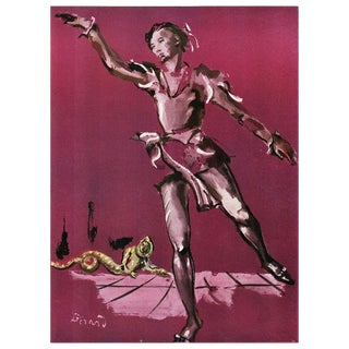"1939 Original ""Ballet Study"" Lithograph by Christian Berard For Sale"