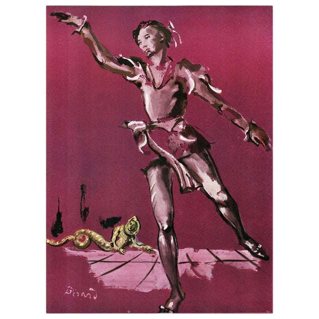 """1939 Original """"Ballet Study"""" Lithograph by Christian Berard For Sale"""