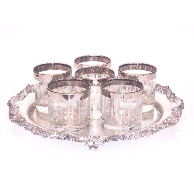 Silver Rim Cordial Glasses - Set of 6 - Image 2 of 4