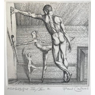 Paul Cadmus Arabesque Ballet Etching For Sale