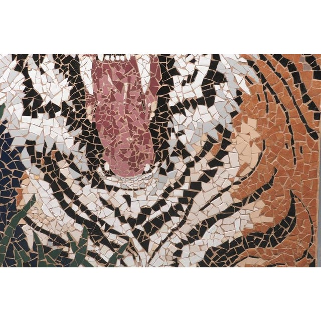 Large Mosaic Tiger Coffee Table For Sale In Atlanta - Image 6 of 7