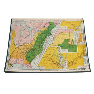 "Vintage Schoolhouse ""Social Science Revolutionary War"" Map"