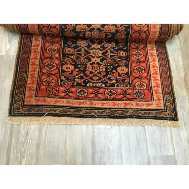 """Traditional Vintage Oversized Caucasian Runner - 3'6"""" X 15' For Sale - Image 3 of 5"""