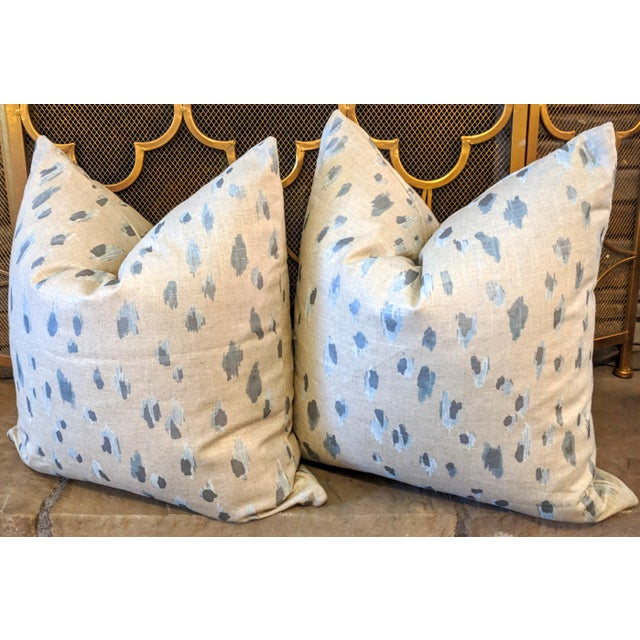 Contemporary Lacefield Asher in Swedish Blue Pillows - A Pair For Sale - Image 3 of 3
