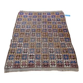 Antique Baluch Tribal Rug Star Design For Sale