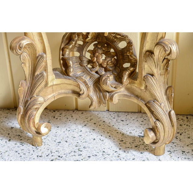 Gold French, Gilt Console Table For Sale - Image 8 of 9
