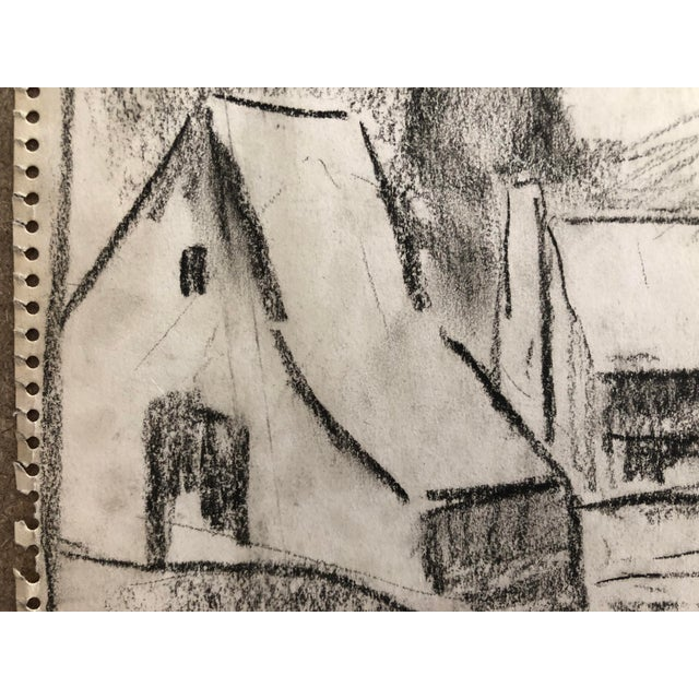 """1930s 1930s Vintage Eliot Clark """"Blue Ridge Farm"""" American Impressionist Inspired Drawing For Sale - Image 5 of 7"""