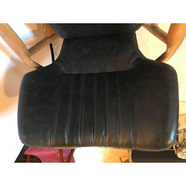 Danish Modern Leather Armchairs - A Pair For Sale - Image 9 of 11