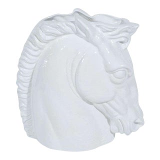 Italian Mid-Century Modern Ceramic Horse Sculptural Vase