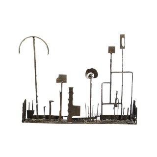 1960's Brutalist Welded Steel Sculpture For Sale