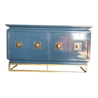 20th Century Chinoiserie Custom Lacquer Buffet or Credenza For Sale