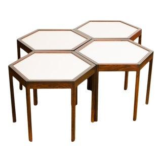 Danish Has C Andersen Hexagonal Side Tables - Set of 4 For Sale