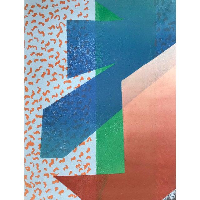 Metal Vintage Abstract Silk Screen Original Art For Sale - Image 7 of 8