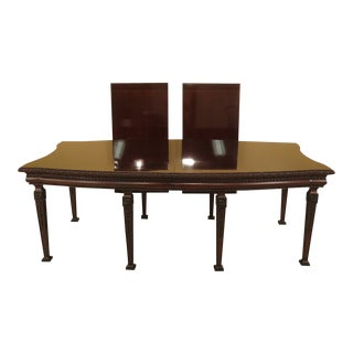 1990s Vintage EJ Victor Georgian Style Mahogany Dining Table For Sale