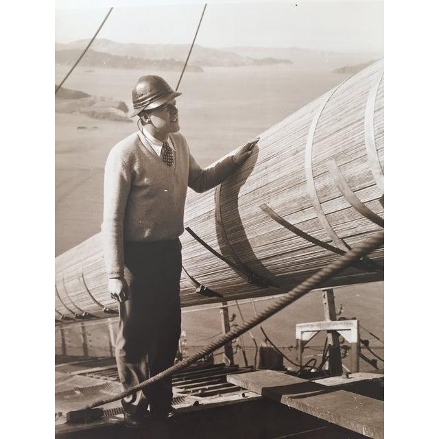 Vintage Photo Golden Gate Bridge Construction - Image 4 of 4