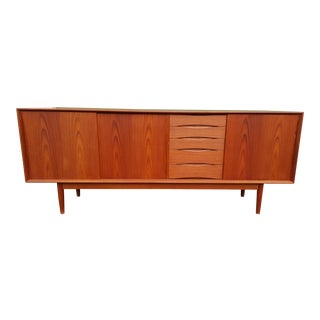 1960s Danish Mid Century Teak Credenza For Sale