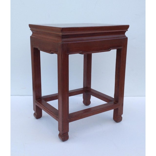 1950s Asian Oak Low Occasional Side Table For Sale - Image 5 of 11