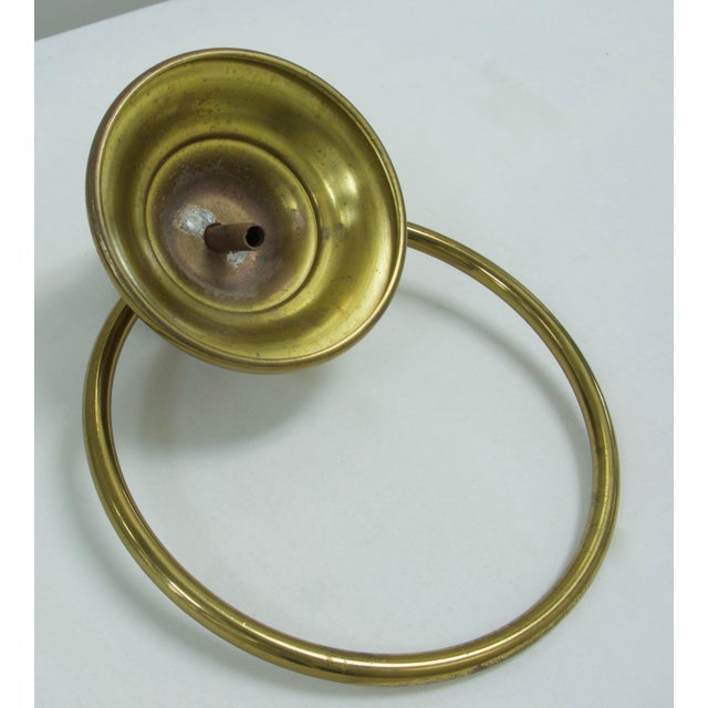 Mid-Century Modern Brass Towel Ring For Sale - Image 4 of 7