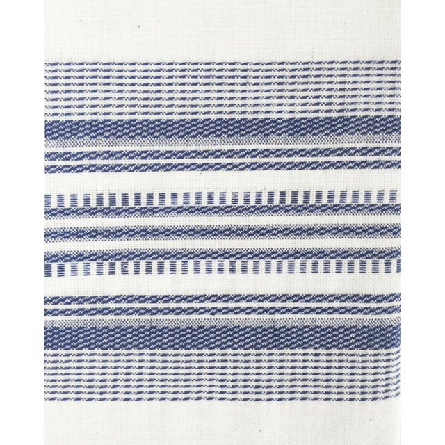 "Periwinkle and white kitchen towel, handwoven by artisans in Guatemala. 100% Cotton 24""x31"""