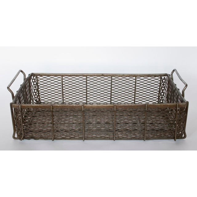 Industrial Early 20th C. Industrial metal mesh Basket For Sale - Image 3 of 3