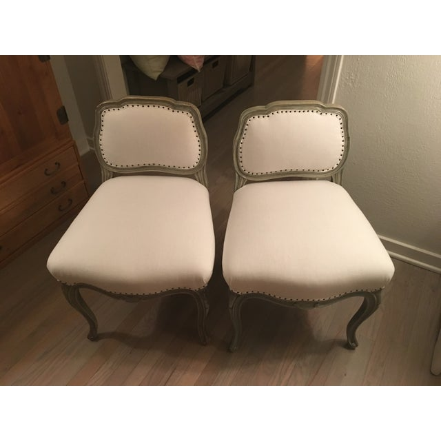 Antique Reupholstered Swedish Chairs - A Pair - Image 2 of 7