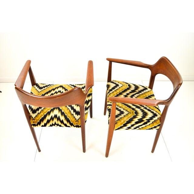 Mid-Century Modern Danish Teak Arm Chairs - A Pair - Image 8 of 10