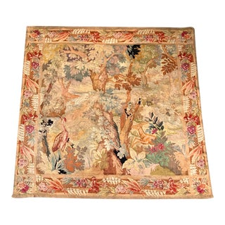 Late 19th Century French Des Bois Tapestry- 6 X 6' For Sale