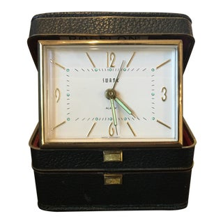 1940's Travel Alarm Clock by Swank