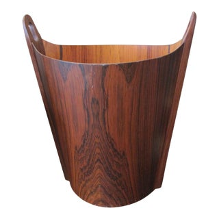 Very Chic Aps Heggen Norwegian Rosewood Paper Basket For Sale