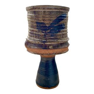 Mid Century Studio Pottery Stoneware Vessel For Sale