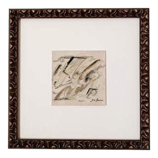 """""""Togetherness"""" Contemporary Abstract Expressionist Mixed-Media Painting by Joe Turner, Framed"""