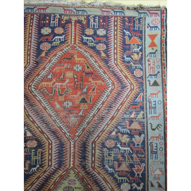 Antique Animal Motif Tabriz Tribal Rug - 4' X 6'11 - Image 7 of 11
