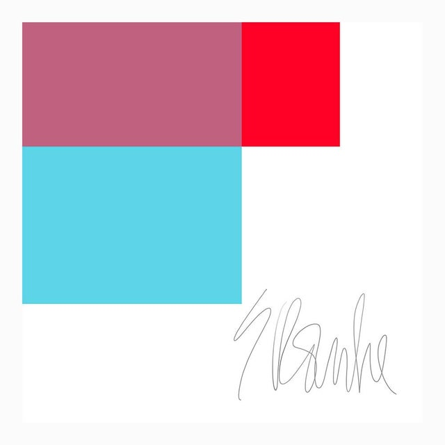 "Not Yet Made - Made To Order The Interaction of Red and Turquoise Fine Art Print 20"" X 24"" by Liz Roache For Sale - Image 5 of 6"
