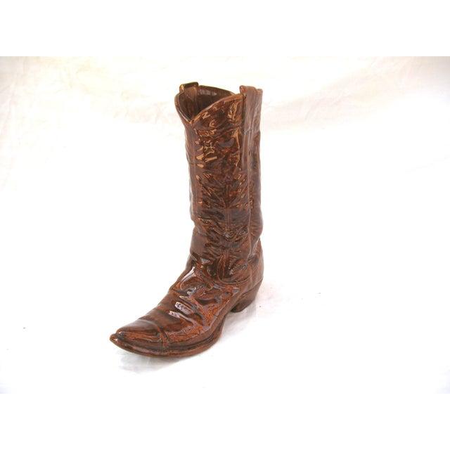 Vintage Ceramic Cowboy Boot Vase - Image 3 of 8