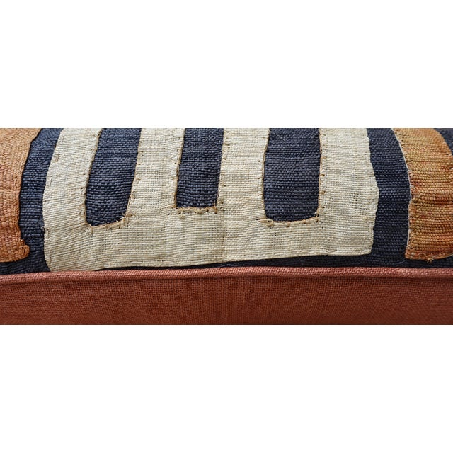African Kuba Cloth Pillow For Sale - Image 4 of 7