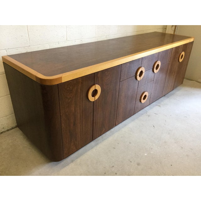 Willy Rizzo Style Wood Credenza For Sale In Richmond - Image 6 of 12