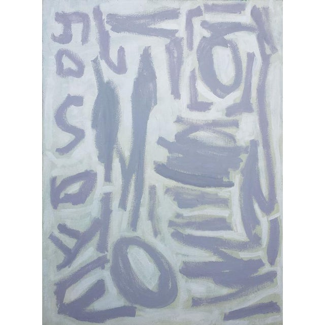 """Susie Kate """"Gray and White Abstract"""" Painting - Image 1 of 2"""